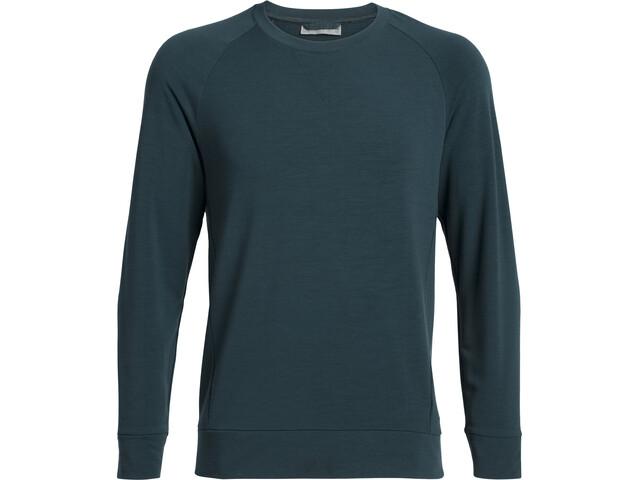 Icebreaker Momentum Camiseta manga larga cuello redondo Hombre, Azul petróleo